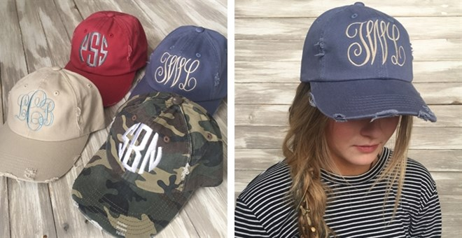 Personalized Distressed Cap