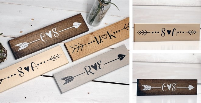 Custom Wood Arrow Sign Decor