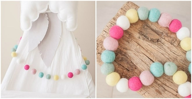 Felt Ball Garlands | 18 Choices!