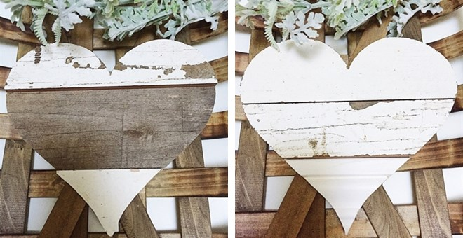 Rustic Farmhouse Wood Hearts