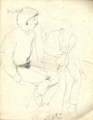 1 liverpool sketches 6, 1968, pencil