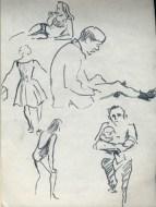 150 pestalozzi sketches - beach at hastings