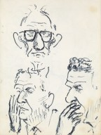 174 pestalozzi sketches - mr elphick & the groundsman