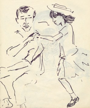 238 pestalozzi sketches - tibetan girl