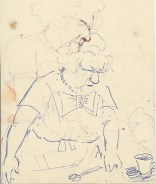 318 Pestalozzi sketches - Mrs Morrison dressmaking