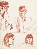 328 Pestalozzi sketches - Dave, John, Vreni, Debbie