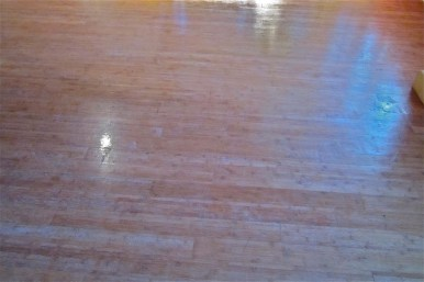 bamboo floor after varnish