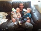 Uncle Andy with Logan and Archie