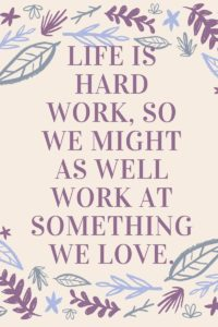 work at what you love