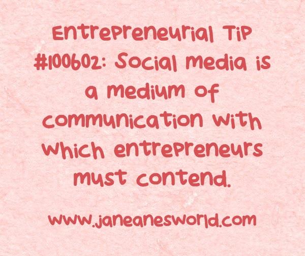 www.janeanesworld.com entrepreneurs and social media