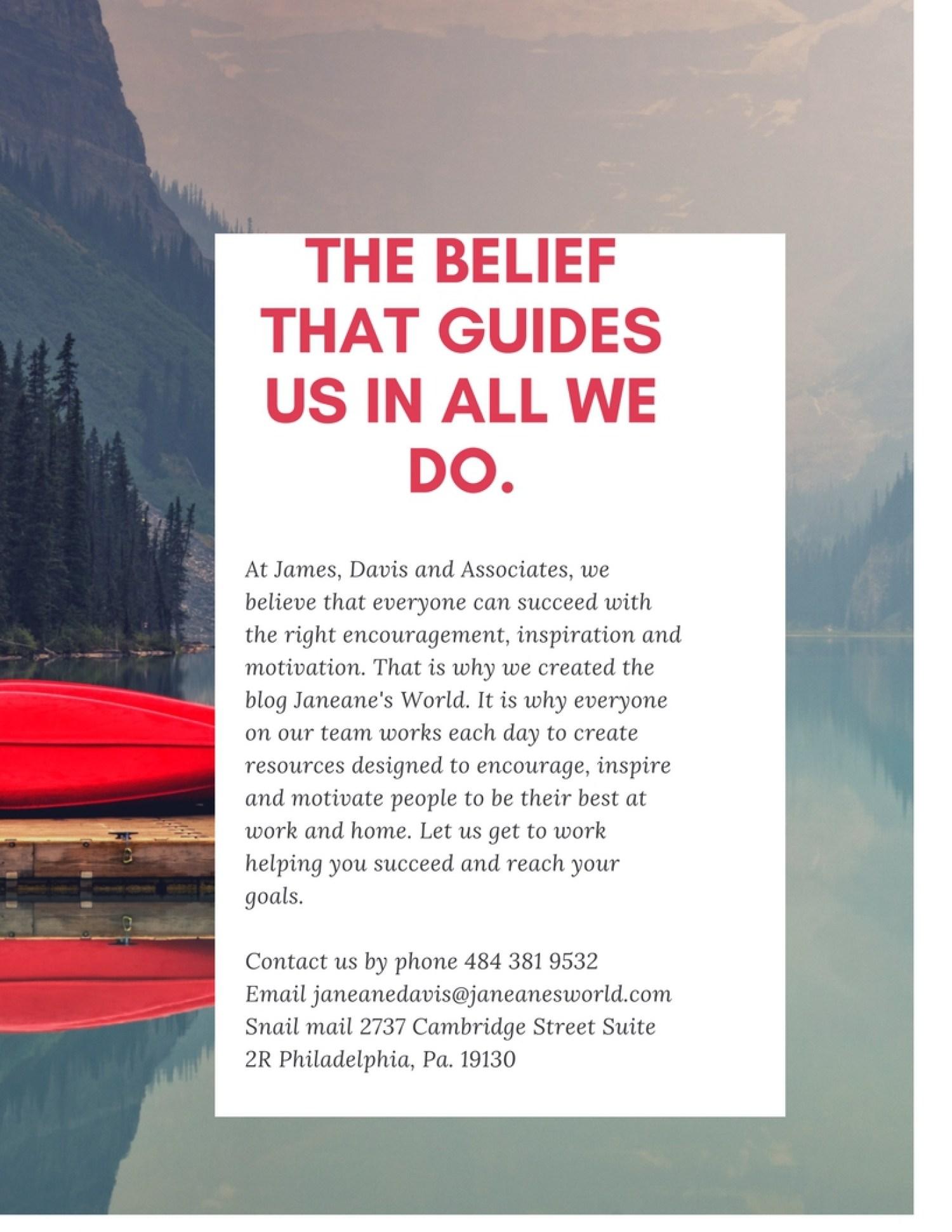 James Davis and Associates why we do what we do