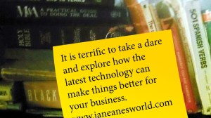 Photo Credit: Janeane Davis Terrific Tuesday dare to use a tablet