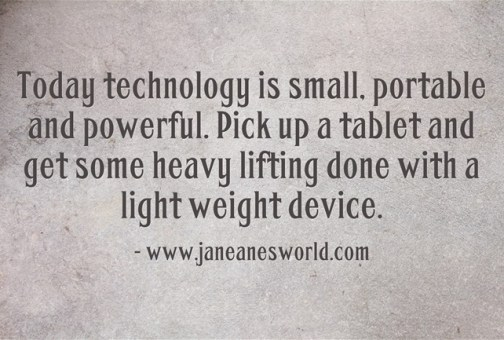 use a tablet device www.janeanesworld.com
