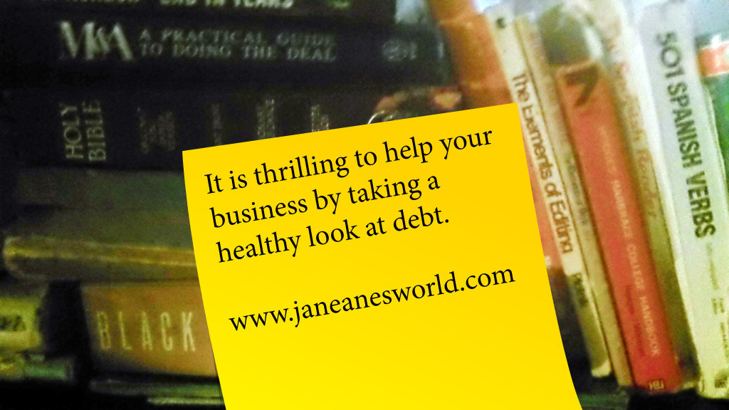 Photo Credit: Janeane Davis Healthy Look at Debt