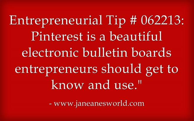 www.janeanesworld.com entrepreneurs use pinterest