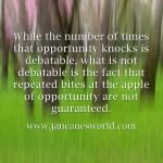www.janeanesworld.com opportunity knocks
