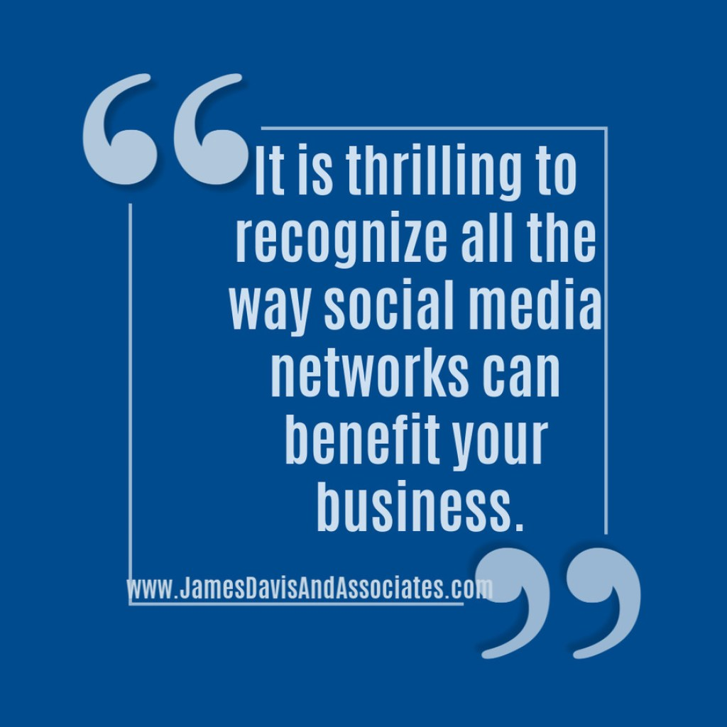 It is thrilling to recognize all the way social media networks can benefit your business.