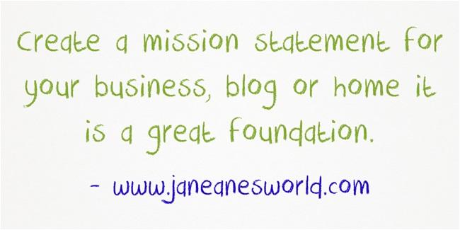 5 steps to create mission statement ww.janeanesworld.com