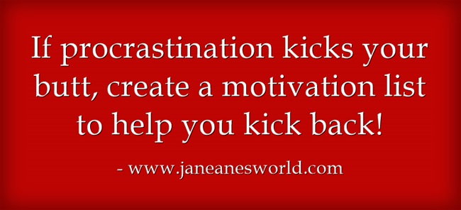 motivate yourself to beat procrastination www.janeanesworld.com