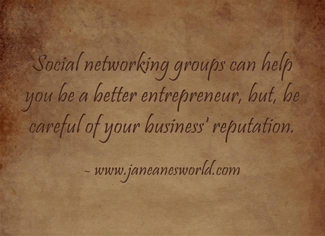 entrepreneur learn w social networking group www.janeanesworld.com