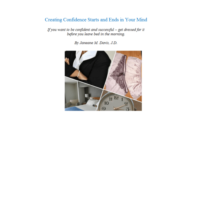creating confidence ebook cover