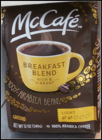 #McCafeMyWay coffee package
