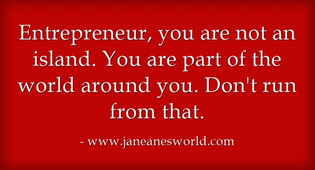 entrepreneur take a stand