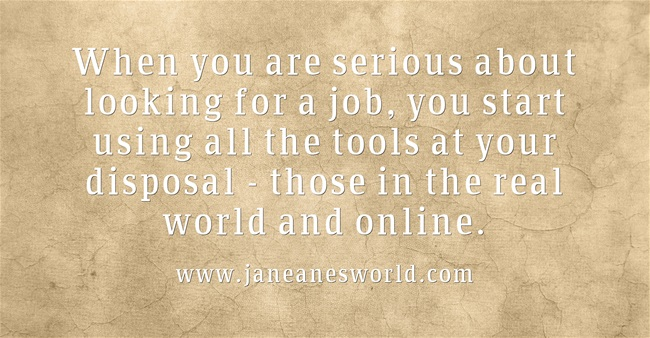 use your network to find a job www.janeanesworld.com