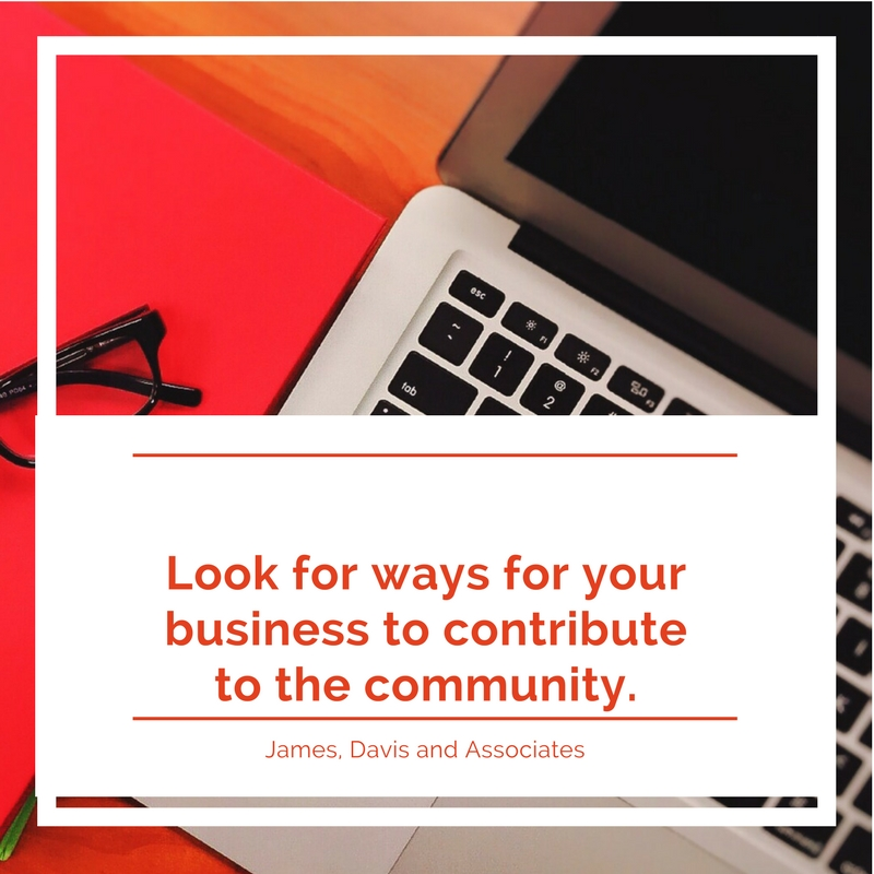 7. Look for ways for your business to contribute to the community.