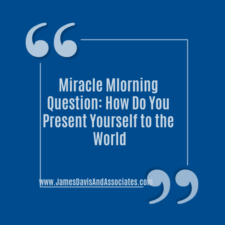 Today's miracle morning idea, in life, it's all about presentation, presentation, presentation.