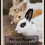 We see Aesop's fables as more than just cute stories