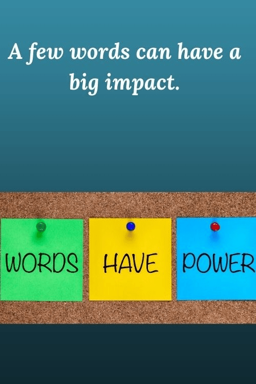 Lessons for entrepreneurs - a few words can have. big impact.