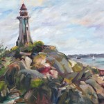 Light House Park, 16 x 20 Oil on Board Plein Air (Video)