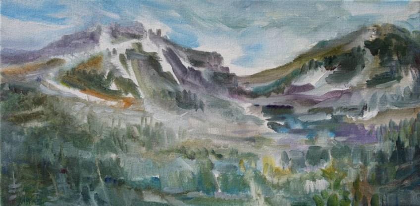 First Snow - Cypress Mt 12 x 24, Giclee Print, $280