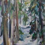 Cypress Snow Trail 24 x 12 Giclee Print on Canvas, $280