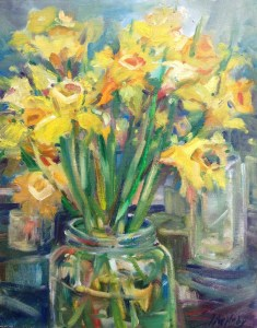 Daffodiles on Galiano- 11 x14, Jane Appleby