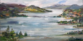 Kelowna Vista, 10 x 20 Oil on Canvas-Plein Air