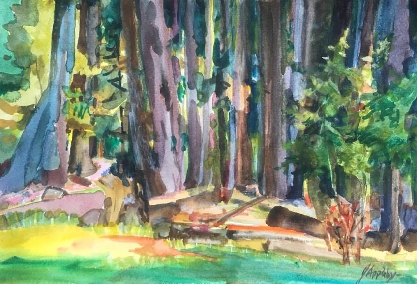 Park at Whistler, 6 x 9 Watercolour
