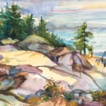 The Bluffs-Cypress Mt, 6 x 9 Watercolour on location