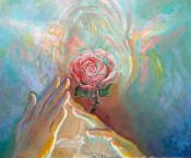 rose heart gesture