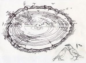 wood yantra & birds