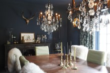 The Blue dining room by Jane Ashton