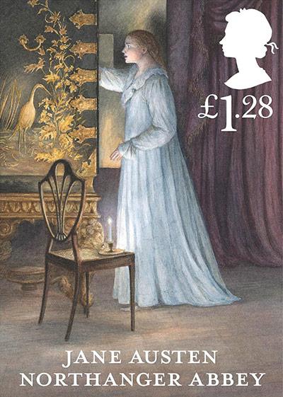 Jane Austen Northanger Abbey £1.28 stamp