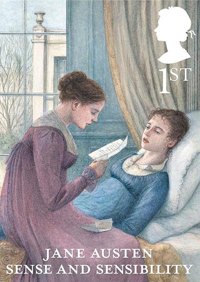 Jane Austen Sense and Sensibility 1st class stamp