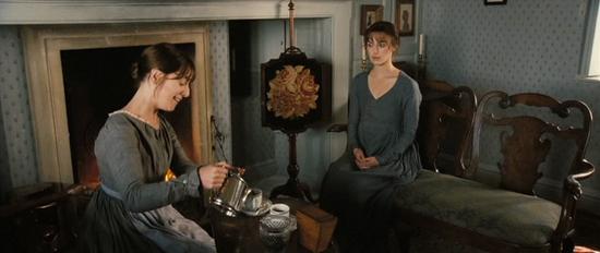 Mrs. Collins, em Hunsford Park com Elizabeth Bennet