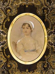 Retrato e detalhe da aquarela de 1869 feita por James Andrew (Imagem: The Guardian)