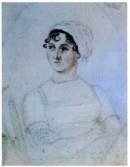 Retrato de Jane Austen por su hermana Cassandra