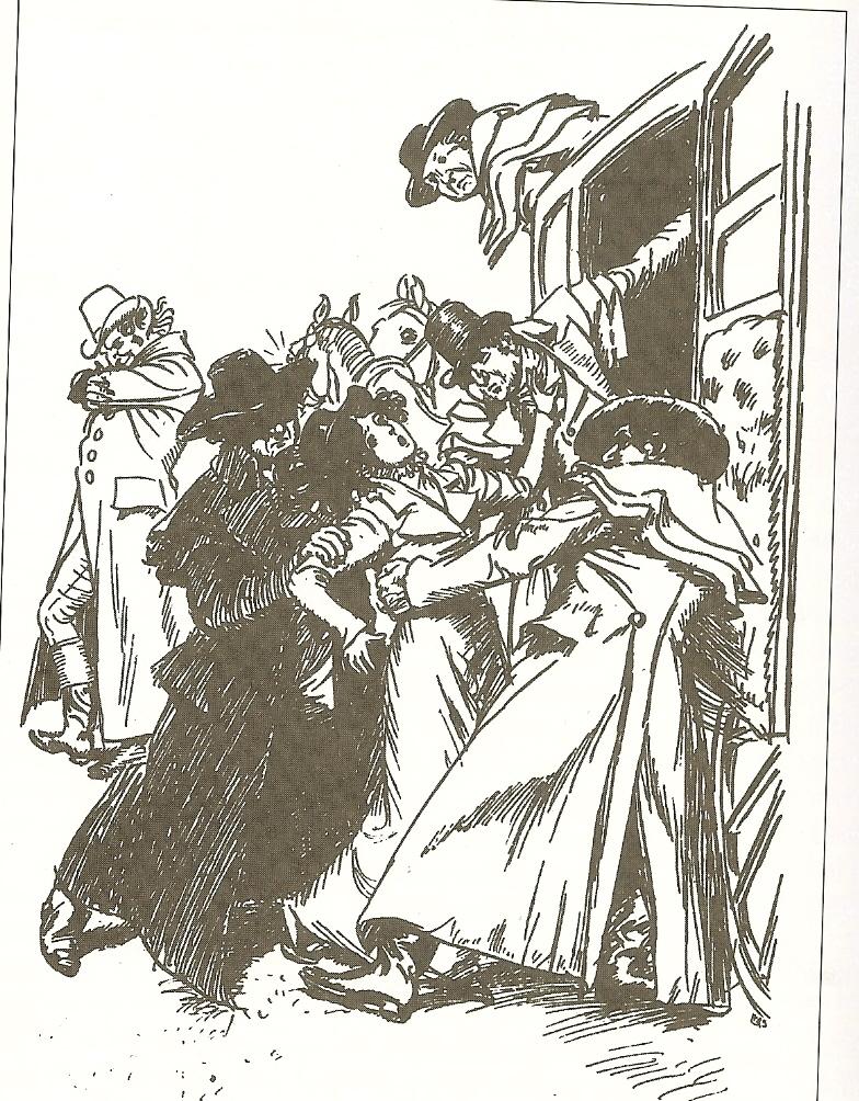 The three villains in horsemen's greatcoats [Thomson, NA]