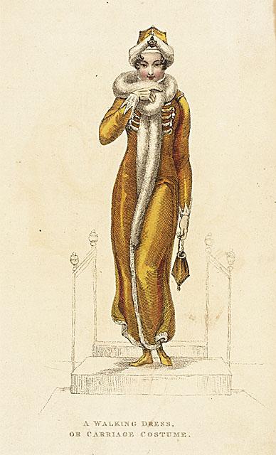 fashion plate walking dress