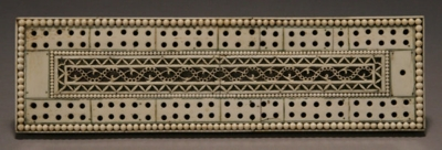 Cribbage board made of bone, 1820